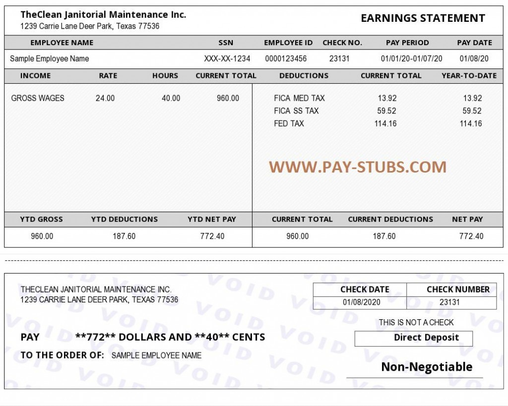 009 Stunning Employee Pay Stub Template Design  Employment Payroll Free ExcelLarge