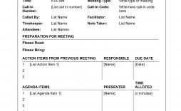 009 Stunning Formal Meeting Agenda Template Design  Board Example Pdf