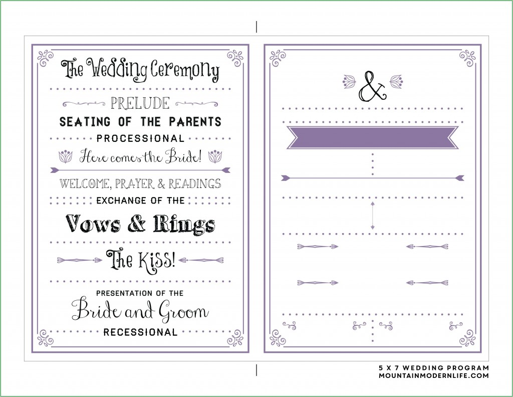 009 Stunning Free Downloadable Wedding Program Template High Definition  Templates That Can Be Printed Printable Fall ReceptionLarge