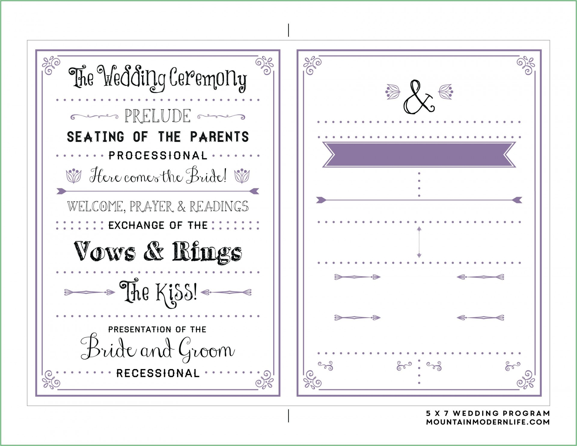 009 Stunning Free Downloadable Wedding Program Template High Definition  Templates That Can Be Printed Printable Fall Reception1920