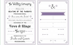 009 Stunning Free Downloadable Wedding Program Template High Definition  Templates That Can Be Printed Printable Fall Reception