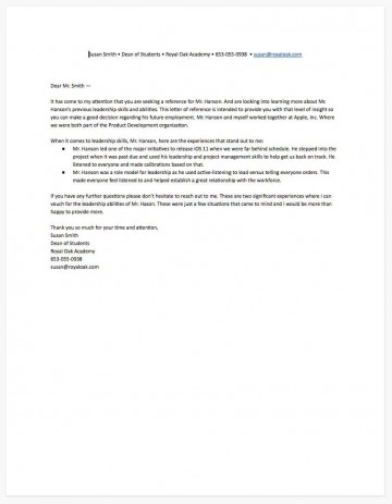 009 Stunning Free Reference Letter Template Download Highest Clarity 360