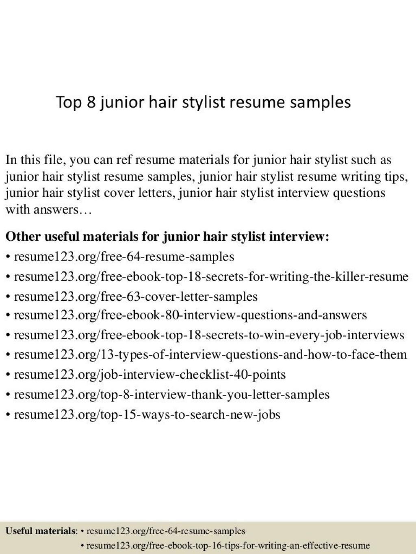 009 Stunning Hair Stylist Resume Template Sample  Word Free DownloadLarge