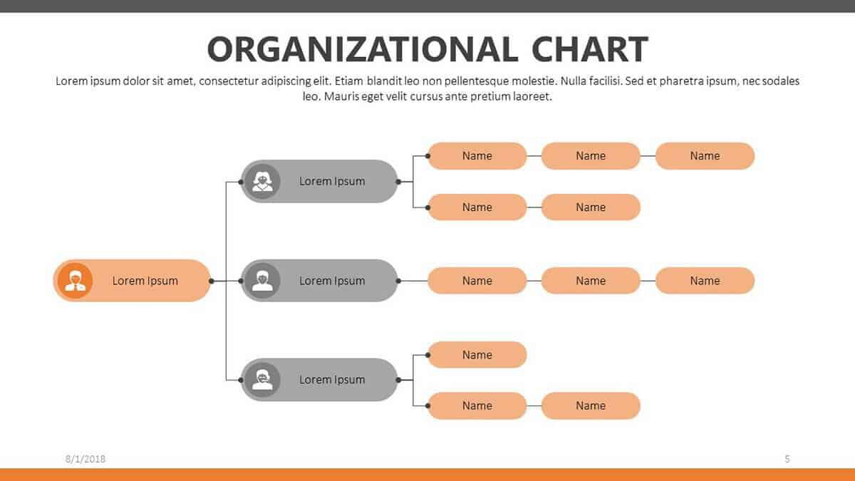 009 Stunning Org Chart Template Powerpoint Example  Free Organization Download Organizational 2010Full