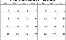 009 Stunning Printable Calendar Template November 2020 Picture  Free