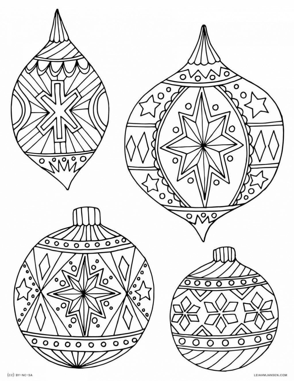 009 Stunning Printable Christma Ornament Template Sample  Templates Stencil Felt Pattern TreeLarge