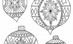 009 Stunning Printable Christma Ornament Template Sample  Templates Stencil Felt Pattern Tree