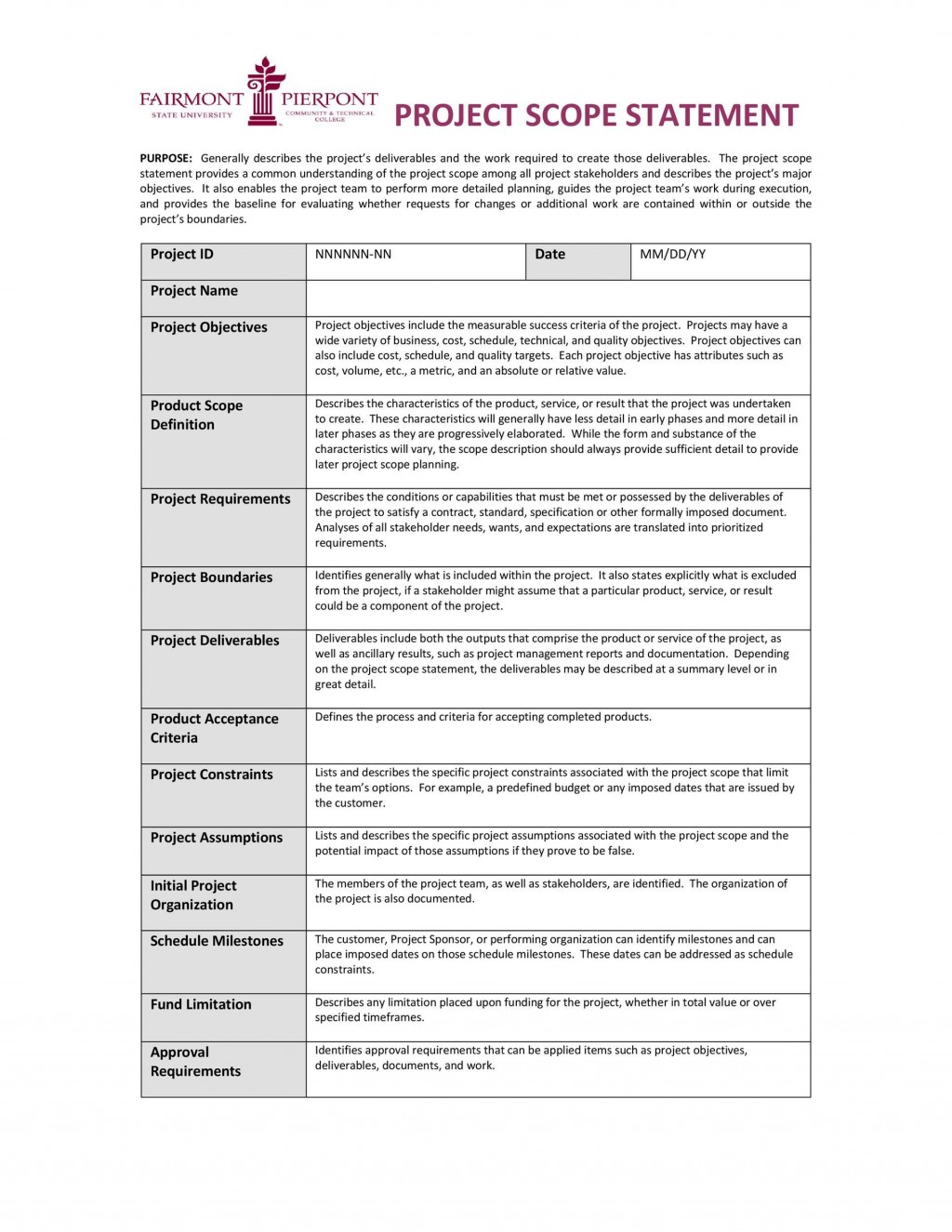 009 Stunning Project Scope Management Plan Template Free Photo Large