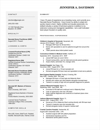 009 Stunning Resume Template For Nurse Concept  Sample Nursing Assistant With No Experience Rn' Free320