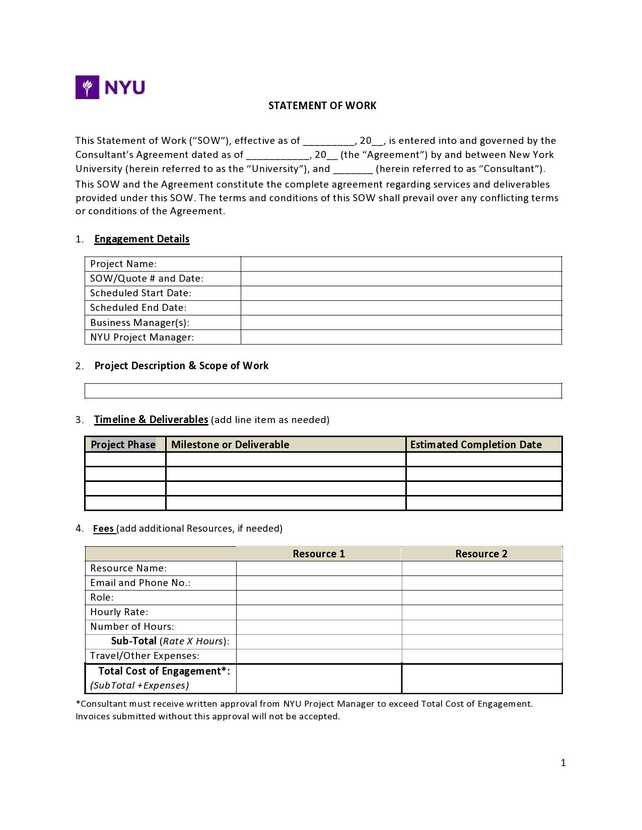 009 Stunning Scope Of Work Template Microsoft Word Picture Full