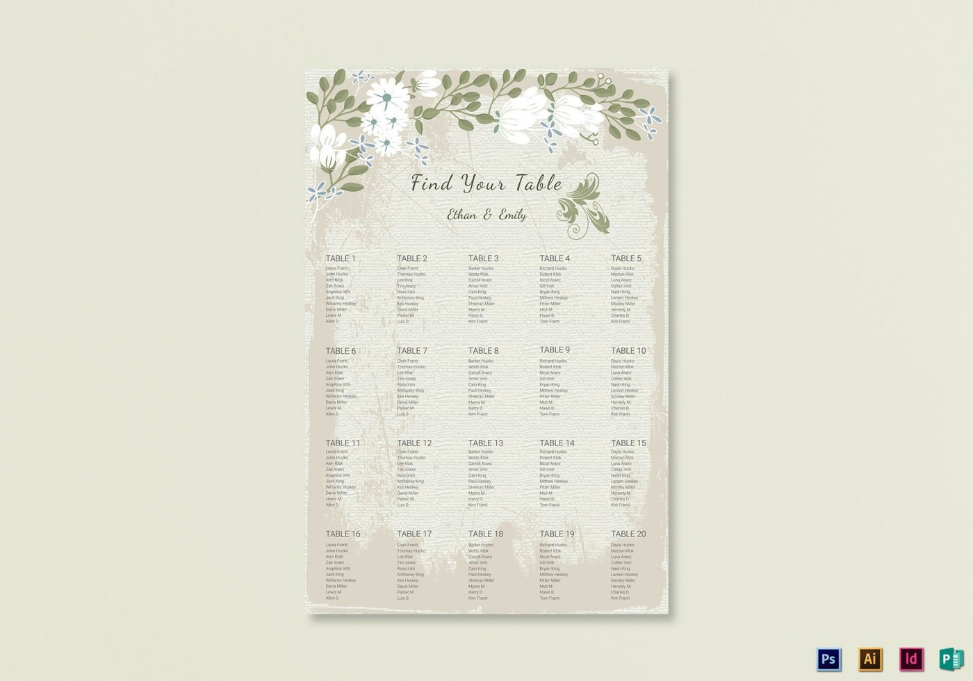 009 Stunning Seating Chart Wedding Template Example  Powerpoint Table Plan Reception Round1400