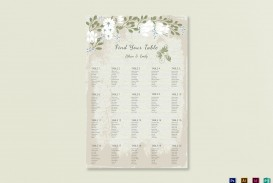 009 Stunning Seating Chart Wedding Template Example  Alphabetical Word Table Plan