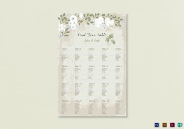 009 Stunning Seating Chart Wedding Template Example  Alphabetical Word Table Plan360