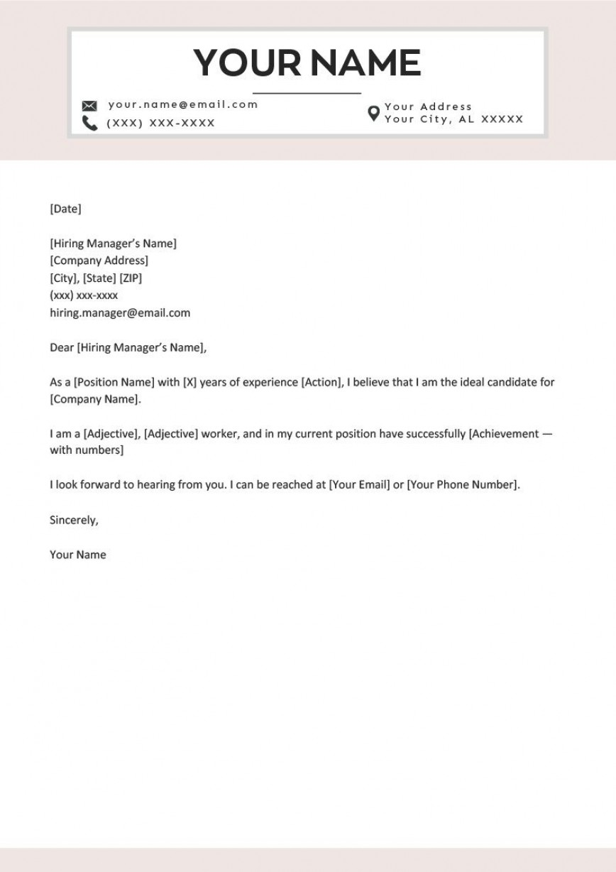 009 Stunning Short Cover Letter Template Photo  Free Story Job