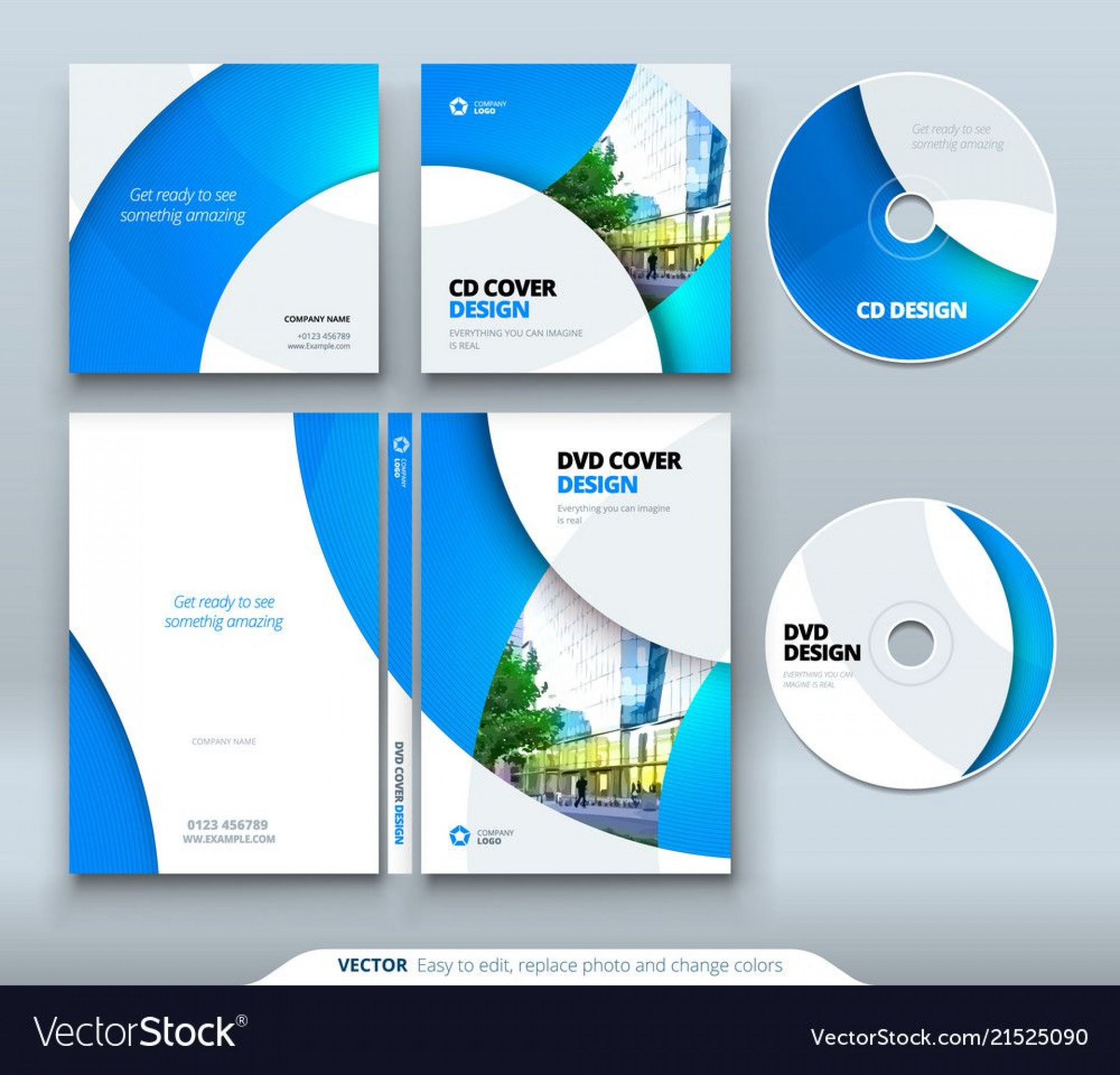 009 Stunning Vector Cd Cover Design Template Free Photo 1920