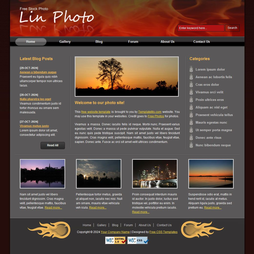 009 Stunning Website Template Html Download Example  Free With Cs Javascript Jquery Bootstrap Simple AndFull