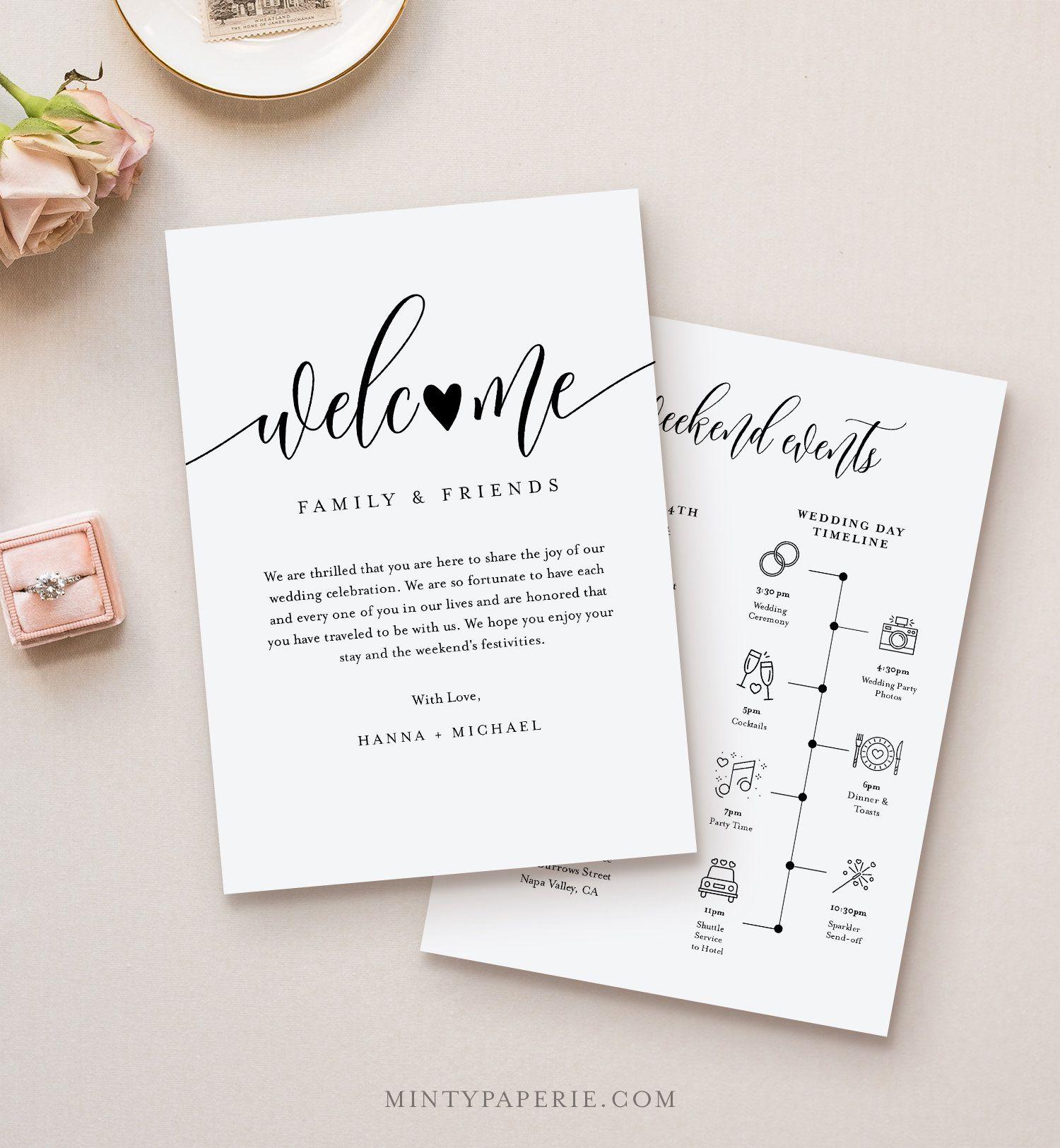 009 Stunning Wedding Gift Bag Welcome Letter Template. Highest Quality Full