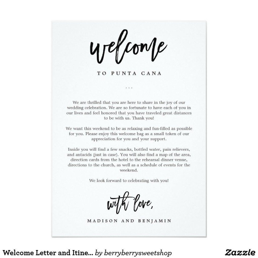 009 Stunning Wedding Hotel Welcome Letter Template Highest Quality Large