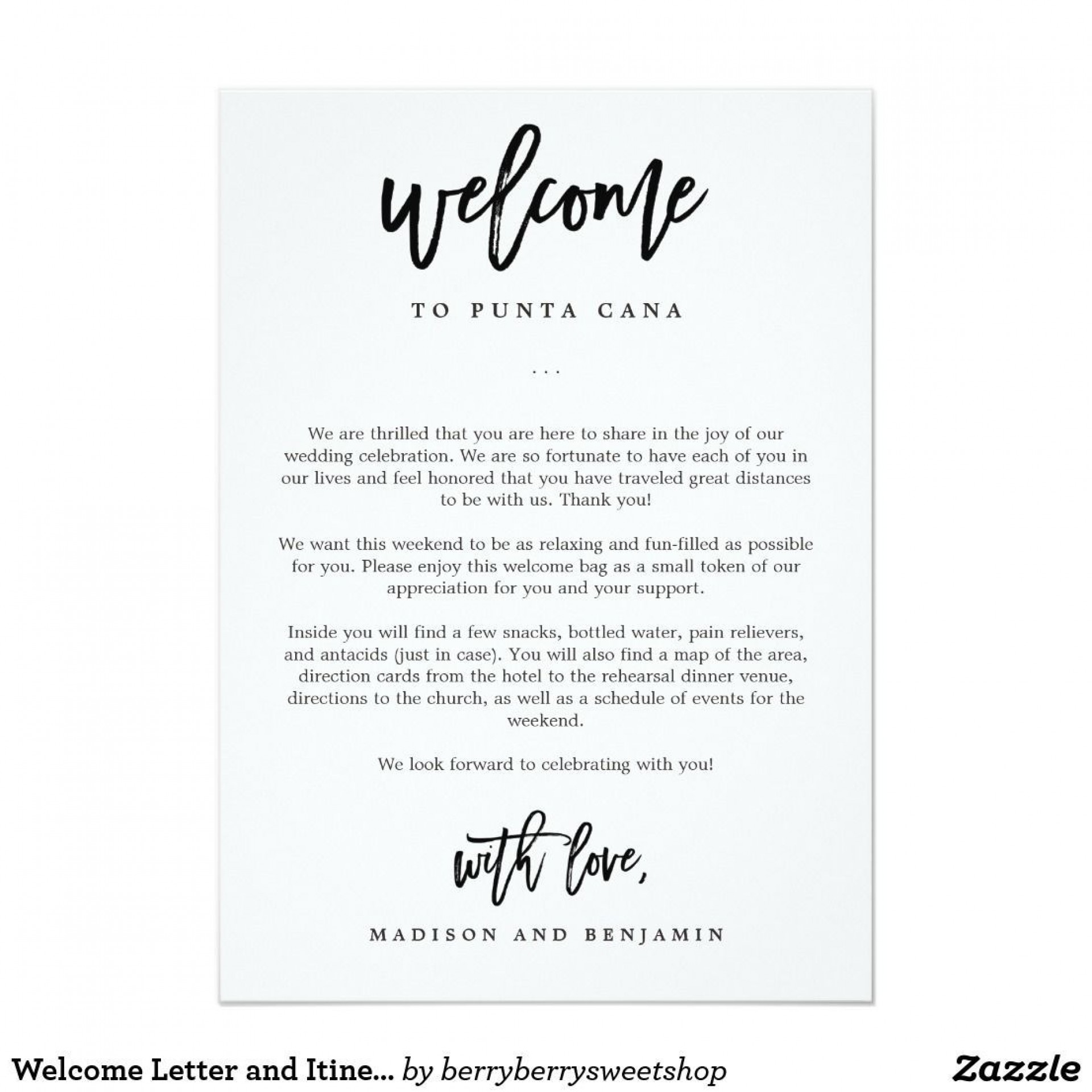 009 Stunning Wedding Hotel Welcome Letter Template Highest Quality 1920