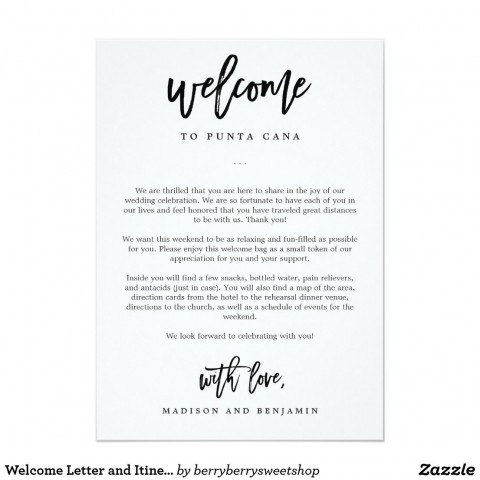 009 Stunning Wedding Hotel Welcome Letter Template Highest Quality 480