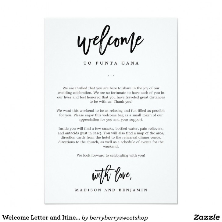 009 Stunning Wedding Hotel Welcome Letter Template Highest Quality 728