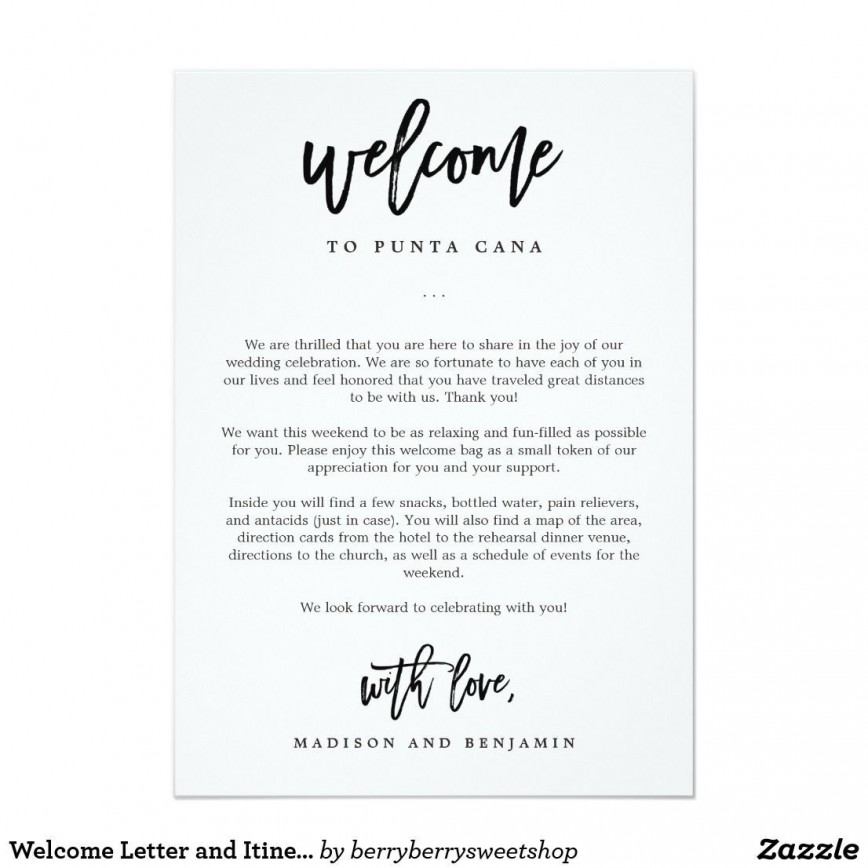 009 Stunning Wedding Hotel Welcome Letter Template Highest Quality 868