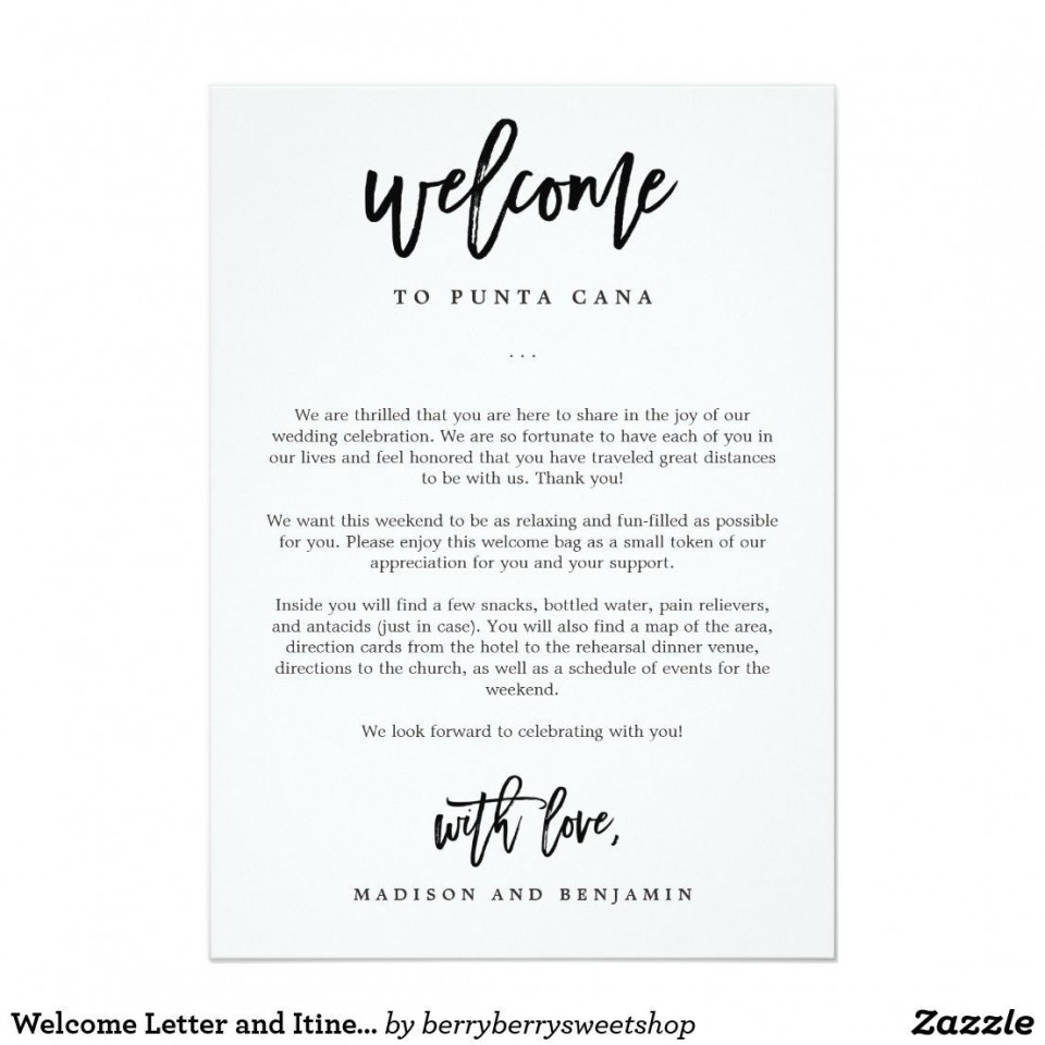 009 Stunning Wedding Hotel Welcome Letter Template Highest Quality 960