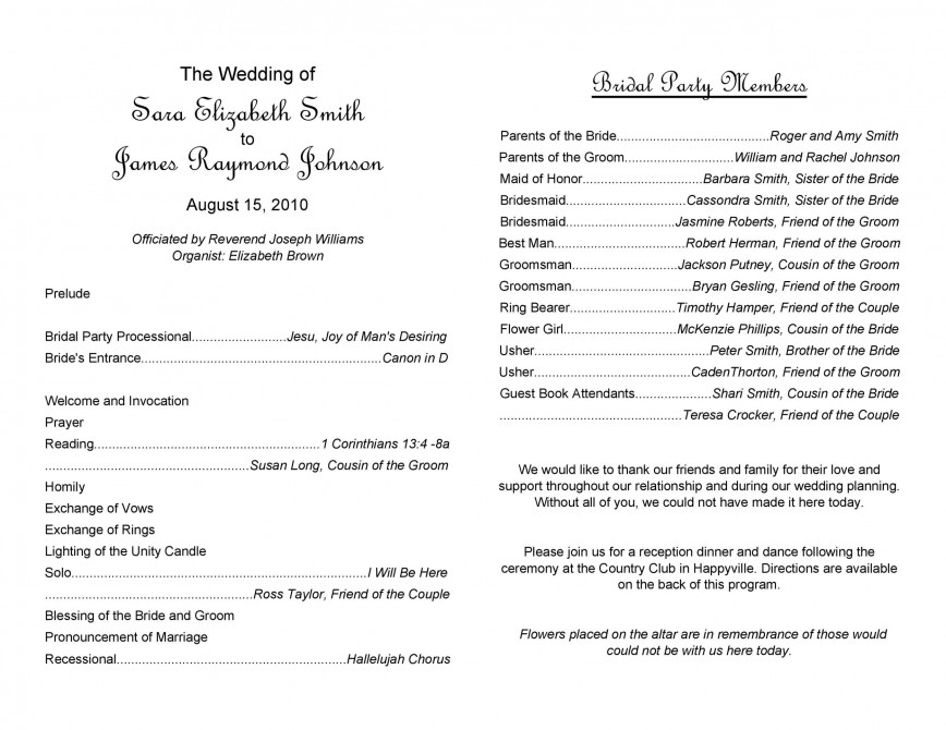 009 Stunning Wedding Program Template Free Concept  Downloadable Indian Microsoft Word Download