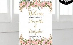 009 Stunning Wedding Welcome Sign Template Free Design