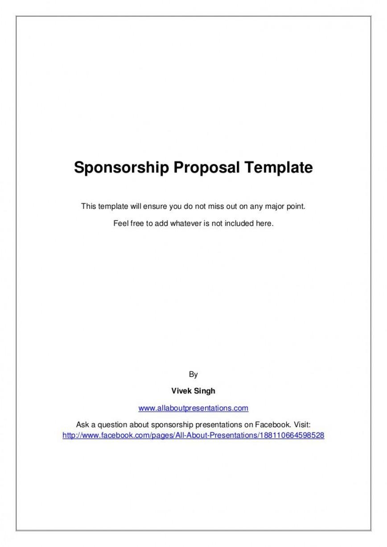 009 Stupendou Event Sponsorship Form Template Inspiration  Free Commitment