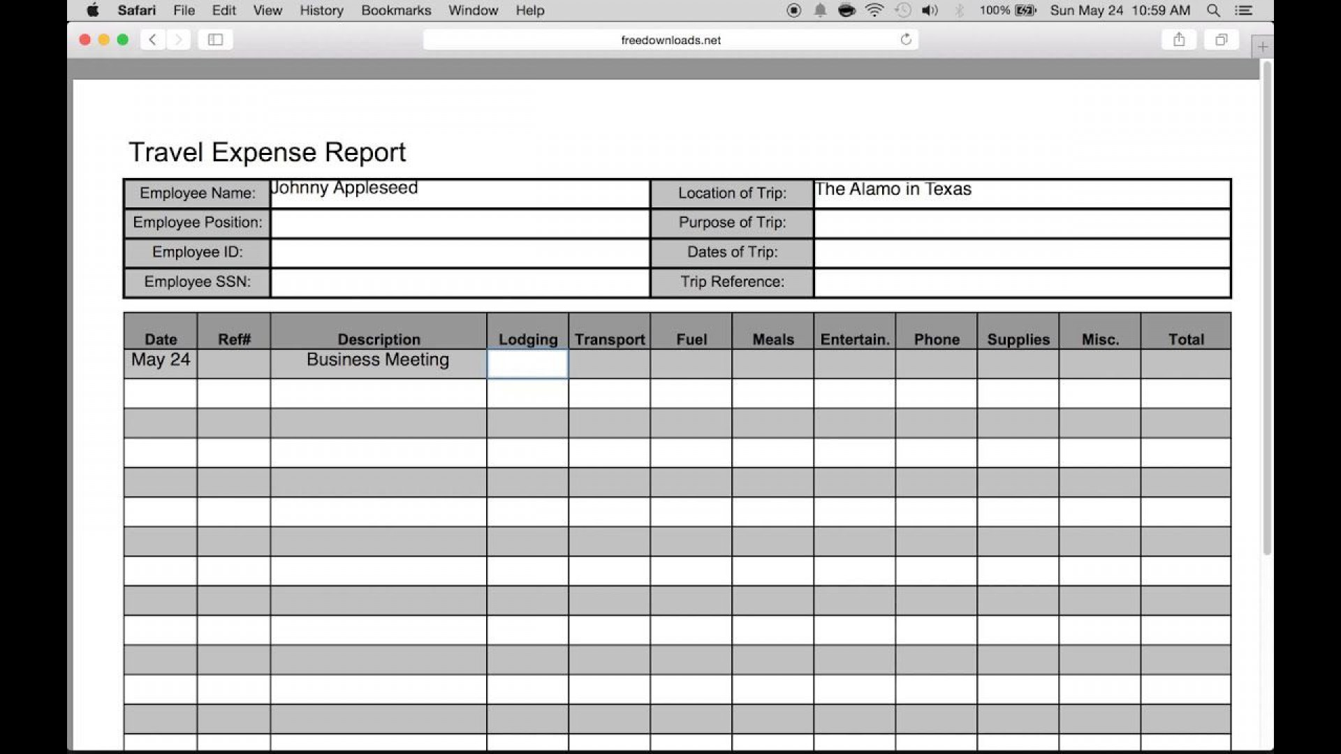 009 Stupendou Expense Report Template Excel High Resolution  Free Format 20101920