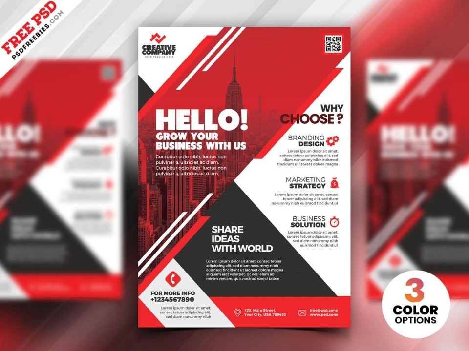 009 Stupendou Free Flyer Design Template Photo  Download Psd Simple Uk960