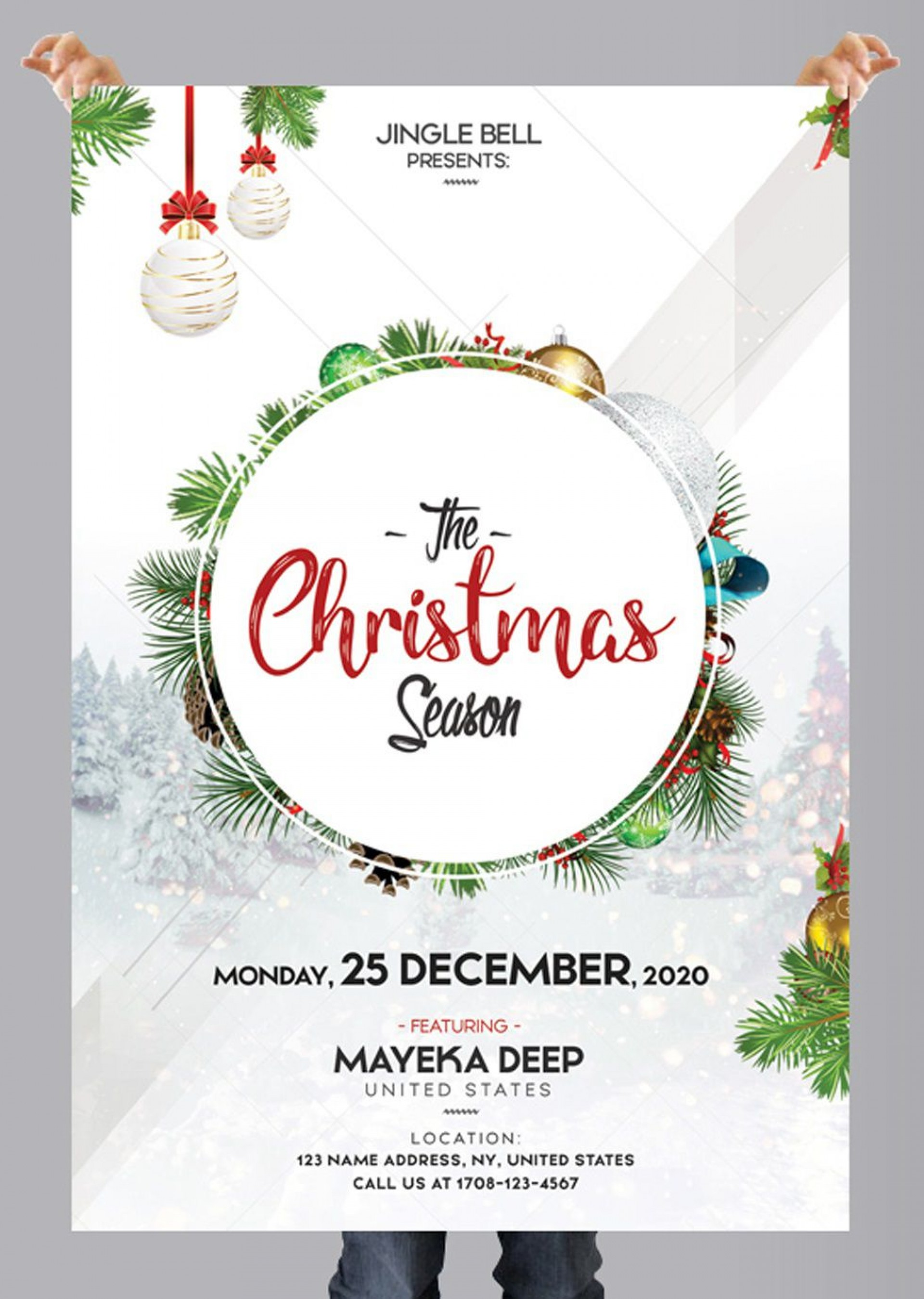 009 Stupendou Free Holiday Flyer Template Example  Printable Christma Word Sale Party1920