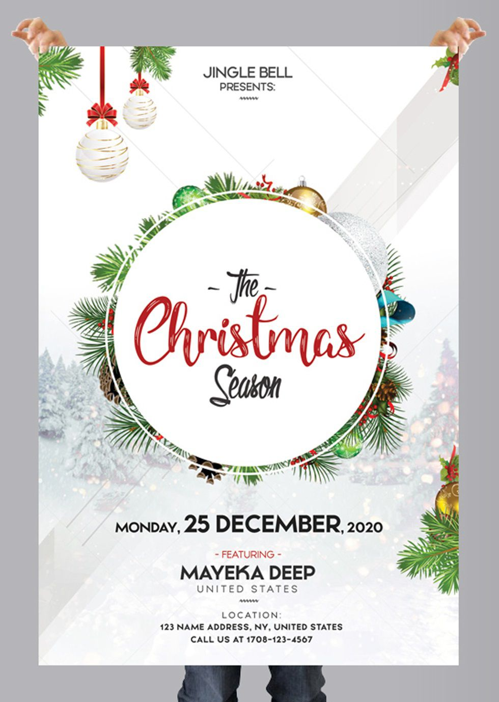 009 Stupendou Free Holiday Flyer Template Example  Printable Christma Word Sale PartyFull