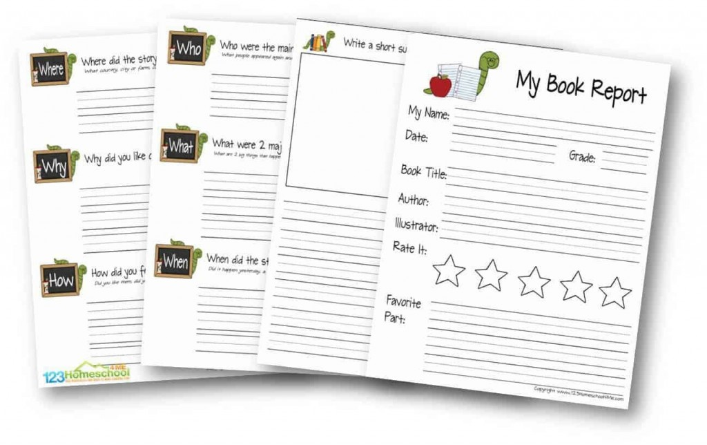 009 Stupendou Free Printable Book Report Template For 6th Grade Image Large