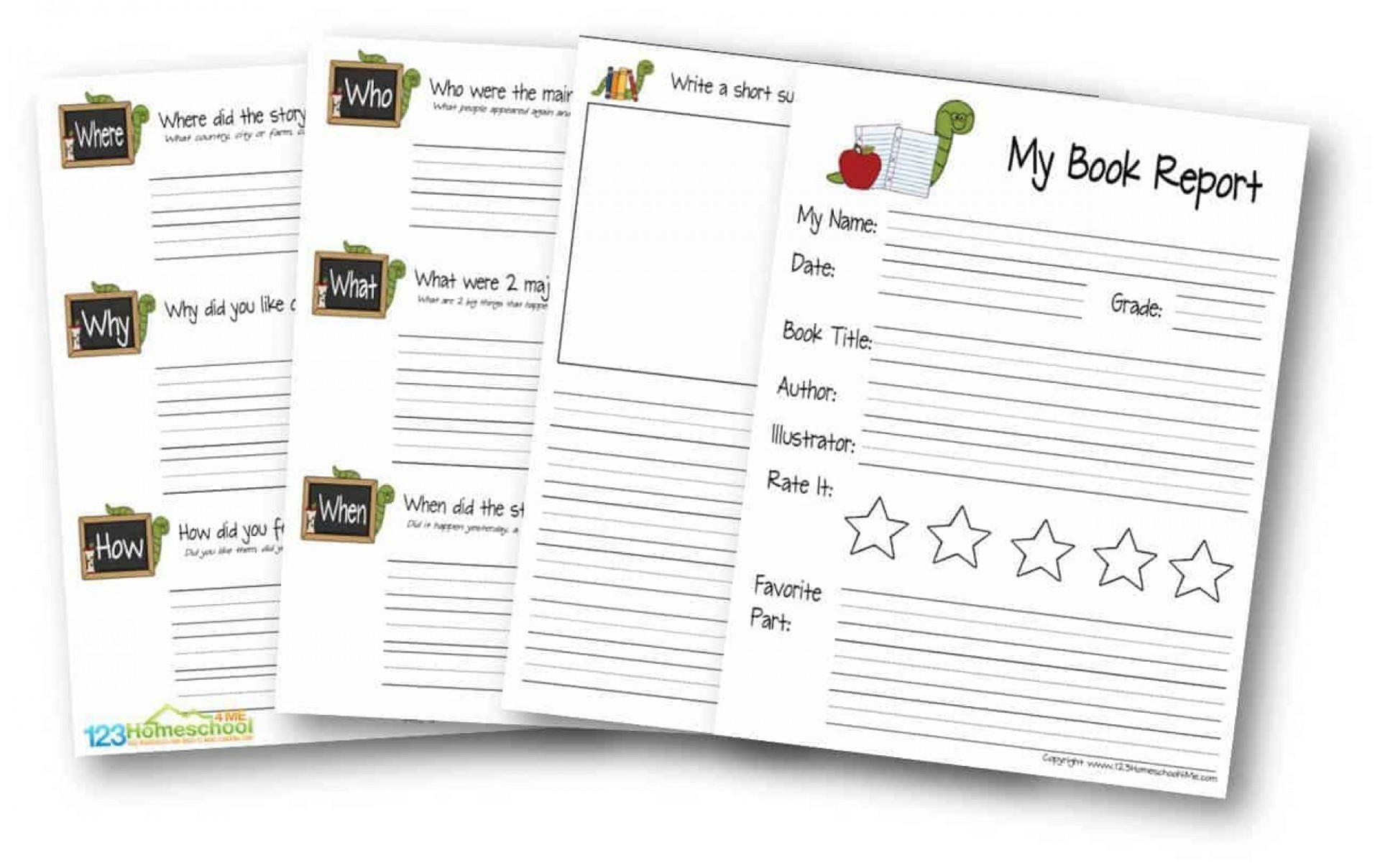 009 Stupendou Free Printable Book Report Template For 6th Grade Image 1920