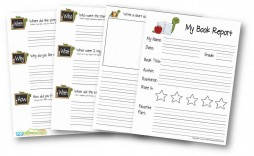 009 Stupendou Free Printable Book Report Template For 6th Grade Image