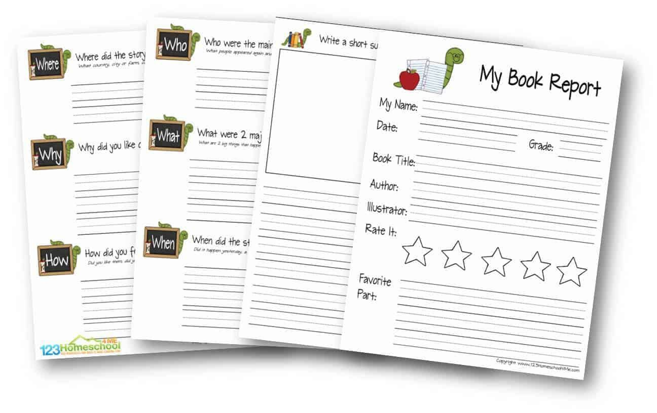 009 Stupendou Free Printable Book Report Template For 6th Grade Image Full