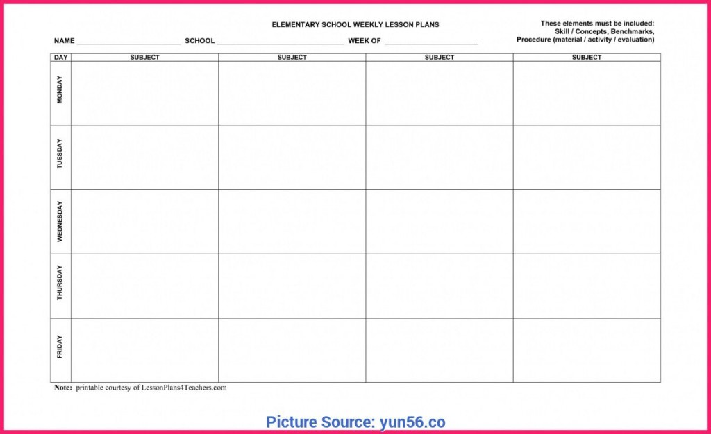 009 Stupendou Free Weekly Lesson Plan Template Photo  Pdf Preschool Word For Elementary TeacherLarge