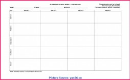 009 Stupendou Free Weekly Lesson Plan Template Photo  Pdf Preschool Word For Elementary Teacher