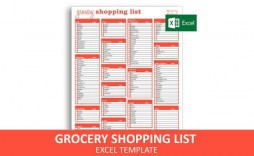 009 Stupendou Grocery List Template Excel Free Download High Definition