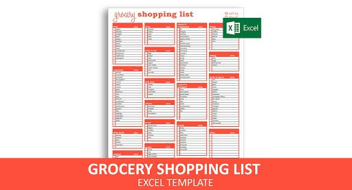 009 Stupendou Grocery List Template Excel Free Download High Definition Full