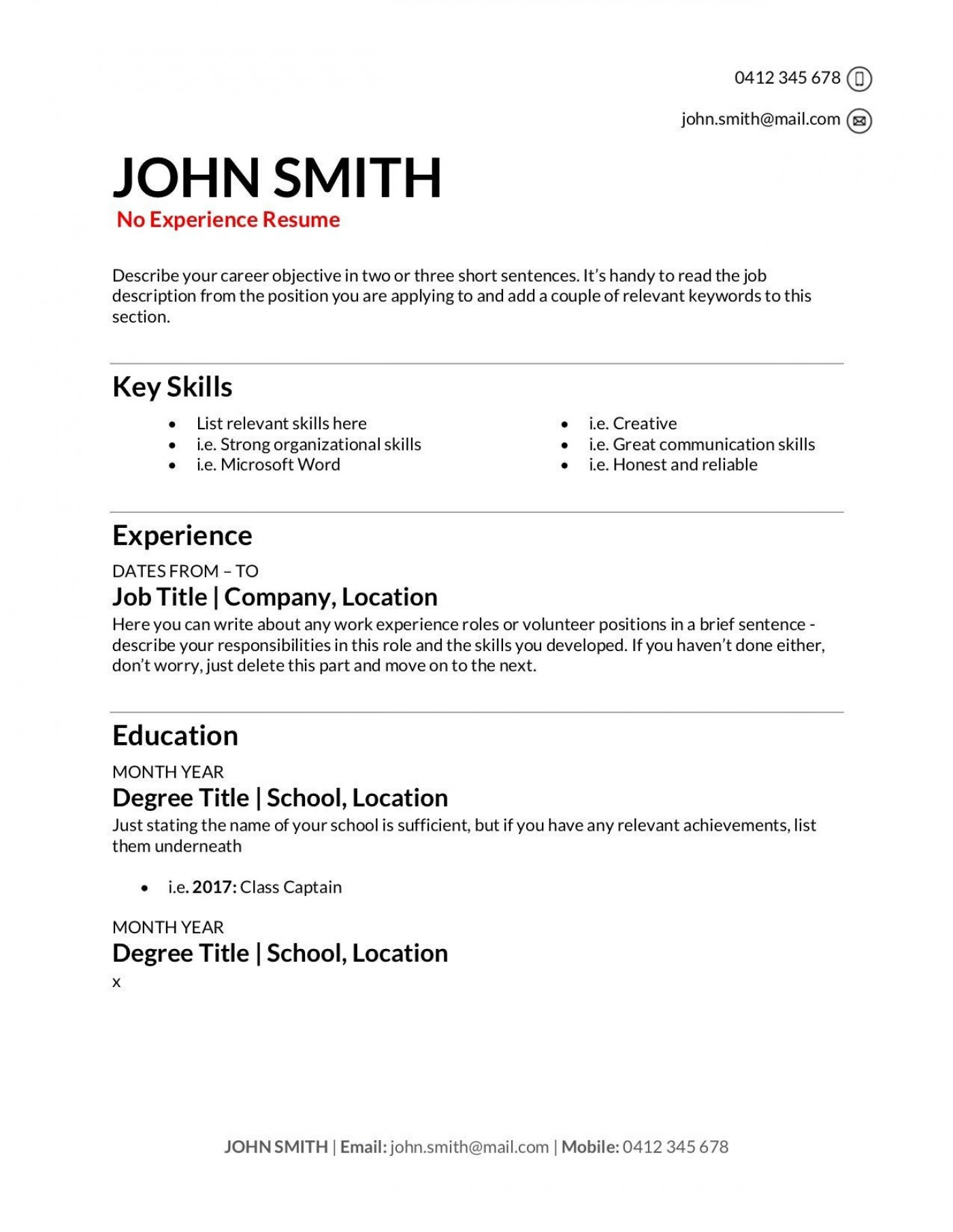 009 Stupendou Make A Resume Template Highest Clarity  Create For Free How To Good1400