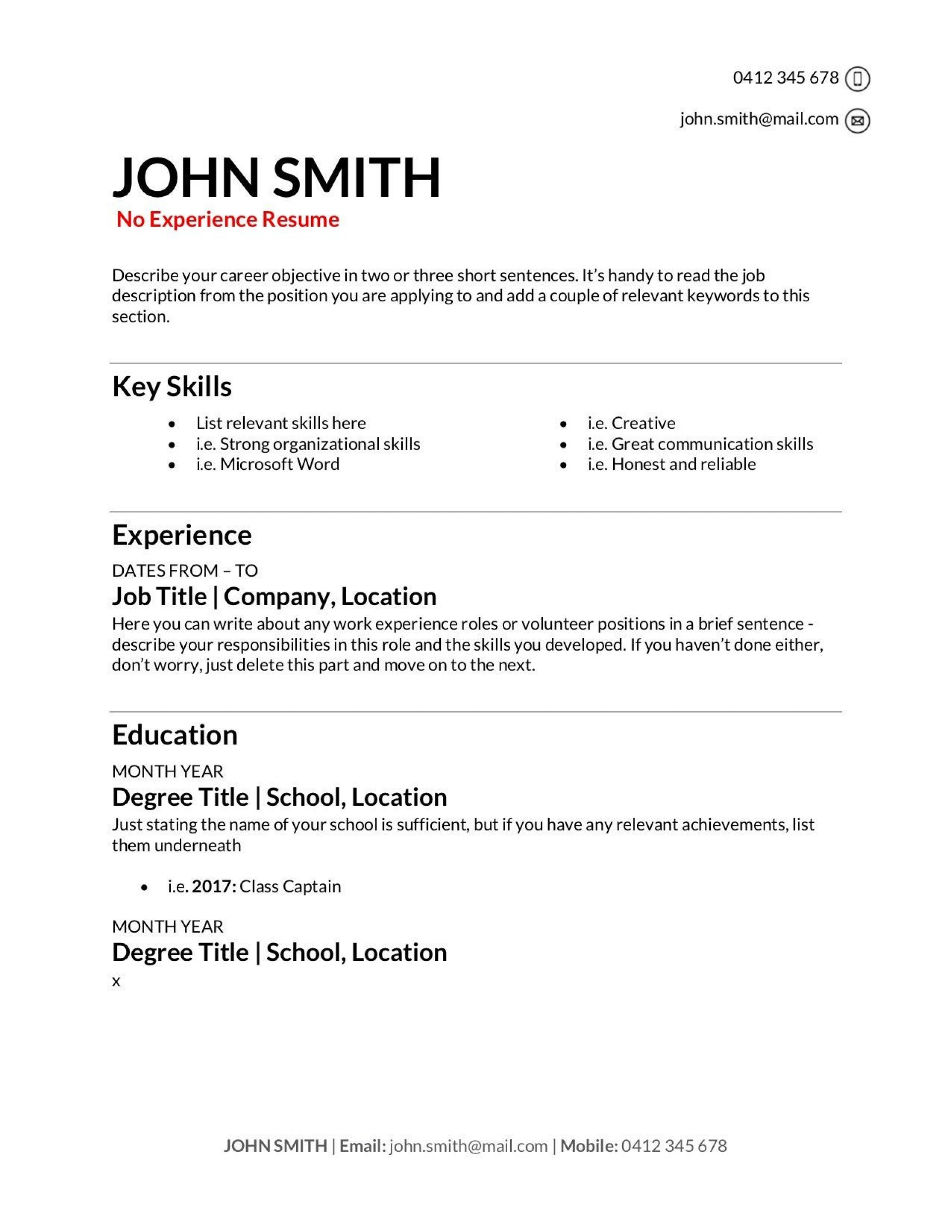 009 Stupendou Make A Resume Template Highest Clarity  Create For Free How To Good1920