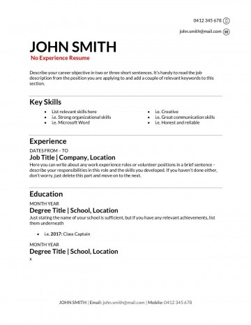 009 Stupendou Make A Resume Template Highest Clarity  Create For Free How To Good360