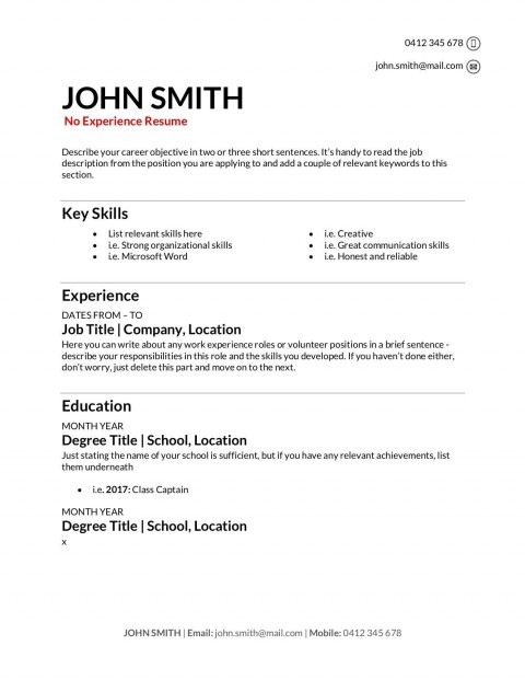 009 Stupendou Make A Resume Template Highest Clarity  Create For Free How To Good480