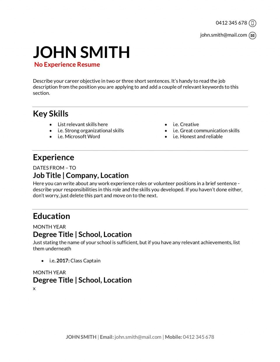 009 Stupendou Make A Resume Template Highest Clarity  Create For Free How To Good960