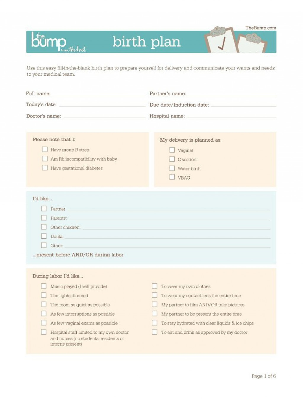 009 Stupendou Natural Birth Plan Template Example  ChildbirthLarge