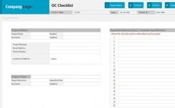 009 Stupendou Project Management Checklist Template Sample  Audit Excel Plan