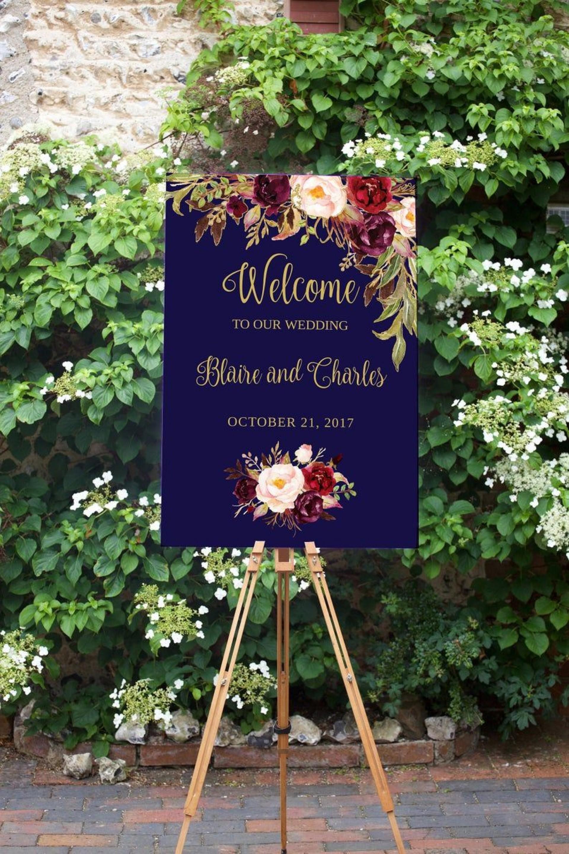 009 Stupendou Wedding Welcome Sign Printable Template Idea  Free1920